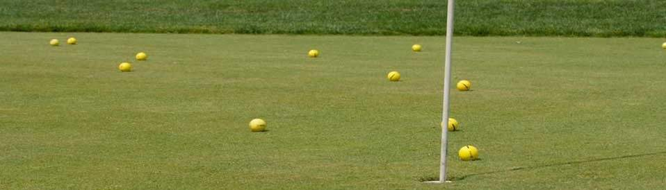 balls on the chipping green