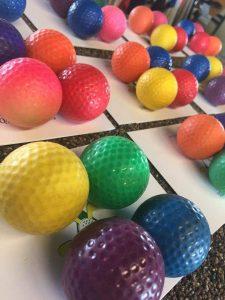 mini golf balls for long weekend