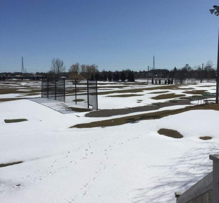 We're watching the weather and getting closer to opening.  Golf season is only weeks away!