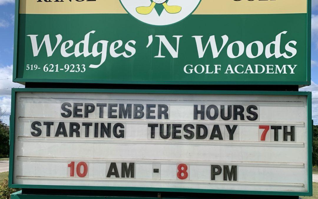 September hours…